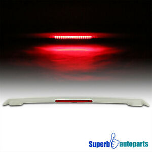 For 2003 2008 Toyota Corolla Abs Plastic Rear Trunk Spoiler Wing led Stop Light