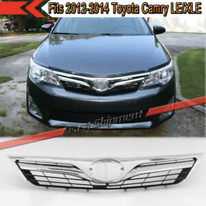Fits 2012 2013 2014 Toyota Camry Le Xle Chrome Mesh Front Upper Grille Grill