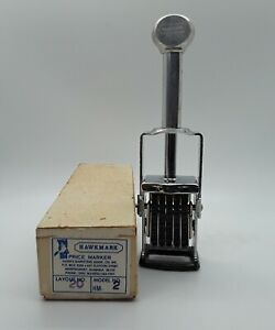 Vintage Hawkmark Price Marker With Box Free Shipping