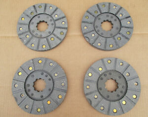 4 Brake Discs For Ih International Industrial 2444 3414 3444
