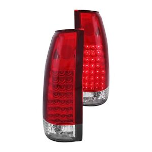 For Chevy Tahoe 1995 1999 Anzo 311004 Chrome red G2 Led Tail Lights