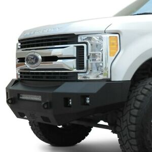 For Ford F 250 Super Duty 17 20 Fortis Full Width Textured Black Front Hd Bumper