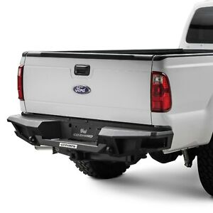 For Ford F 250 Super Duty 11 16 Br20 Replacement Full Width Black Rear Hd Bumper