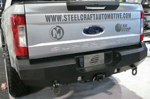 For Ford F 250 Super Duty 17 20 Fortis Full Width Textured Black Rear Hd Bumper