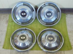 1967 Chevrolet Caprice Hub Caps 14 Set Of 4 Chevy Wheel Covers 67 Hubcaps
