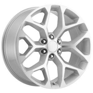 4 Replica 176 Gm Snowflake 26x10 6x5 5 31mm Silver Wheels Rims 26 Inch