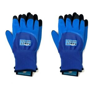 Frost Busters Thermo Blue Latex Winter Waterproof Gloves 2 Pairs