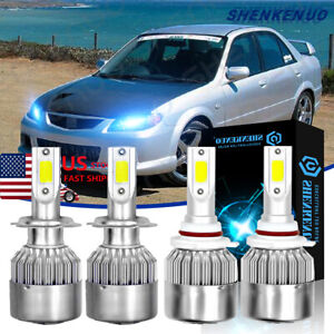 For Mazda Protege5 2002 2003 9005 H7 Led Headlight High Low Beam Kit 8000k