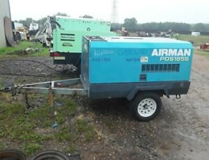2007 Airman Pds185s 185cfm Isuzu Diesel Towable Air Compressor Only 529 Hrs