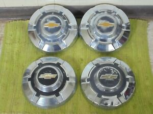 69 75 Chevy 3 4 1 Ton Dog Dish Hubcap 12 Set Of 4 Pickup Truck 16 16 5 C20 C30