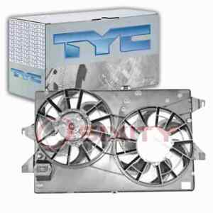 Tyc Dual Radiator Condenser Fan Assembly For 1995 2000 Ford Contour 2 5l Kb