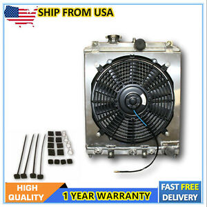 For 1992 2000 Honda Civic Mt All Aluminum Radiator With Fan And Shroud