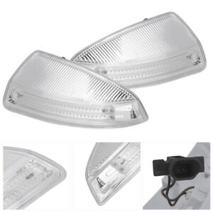 1 Pair 12v Left Right Side View Mirror Turn Signal Light Fit For Mercedes Benz