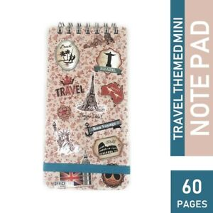 5 51 X 2 75 In 60 Page Travel Themed Mini Note Pad