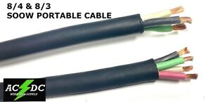 8 3 8 4 Or 6 3 6 4 8 Gauge 6 Awg Soow Cable Wire Cord Portable Power 600v Usa
