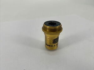 Spencer 10x Microscope Objective Lens Brass 16mm N a 0 30 Apoch