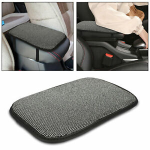 Bling Car Armrest Cover Universal Auto Center Cushion Console Pad For Suv Truck