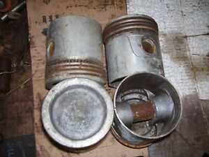 Vintage Allis Chalmers D 14 15 Gas Tractor 3 5 8 Cupped Pistons