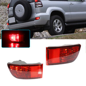 For 2003 2004 2005 Toyota 4runner Led Rear Bumper Reflectors Tail Brake Lights