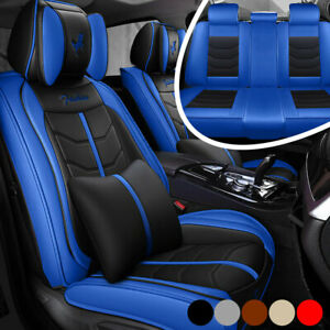 Auto Interior Car Seat Cover Accessories 5 sits Luxury Pu Leather Cushion Set
