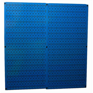 Overall Size Blue Metal Pegboard Pack With Two 32 Inches X 16 Inches Pegboards