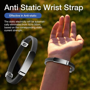 Portable Universal Adjustable Anti static Wristband Wrist Strap Bracelet Wide