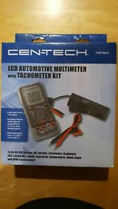Cen Tech Lcd Automotive Multimeter W Tachometer Kit Item 95670