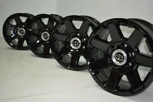 17 Toyota 4runner Tacoma Trail Edition Black Factory Oem Stock Wheels Rims