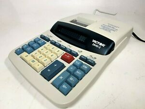 Victor 2640 2 12 Digit Professional Printing Calculator Gray only Used Once