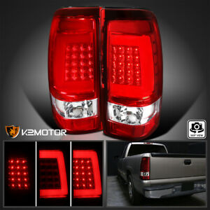 For 1999 2002 Chevy Silverado Gmc Sierra Led Bar Tail Lights Lamps Left Right