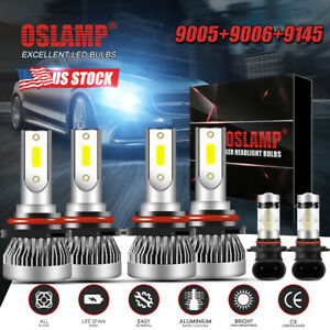 For Chevy Silverado 1500 2500 Hd 2004 2006 Mini Led Headlight Fog Light Bulbs