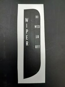 69 70 Cadillac Deville Windshield Wiper Control Switch Lettering Decal Inlay New