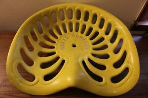Vintage Solid Comfort Cast Iron Tractor implement Seat