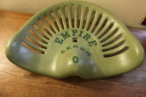 Vintage Empire Cast Iron Tractor implement Seat Akron O