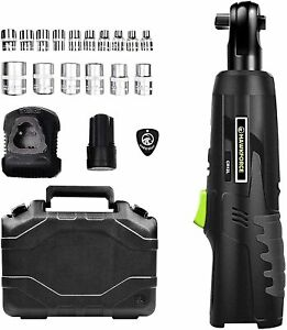 Cordless Ratchet Wrench Variable Speed Trigger Harger Kit And 16 Pcs Wrench Sock