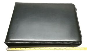 Day Timer Planner Leather Zippered Organizer Binder 7 Ring 16 X 12