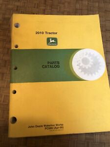 Oem John Deere 2010 Tractor Parts Catalog Manual Book Original Factory Pc 689