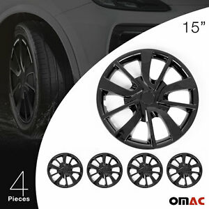 Elegance Wheel Rim Cover Wheels Tires Hubcaps Durable Abs 15 Black For Honda