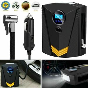 Auto Stop Digital Tire Inflator Car Air Pump Compressor Electric Portable 12v Dc