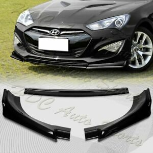 For 2013 2016 Hyundai Genesis Coupe Painted Black Ks Style Front Bumper Body Lip