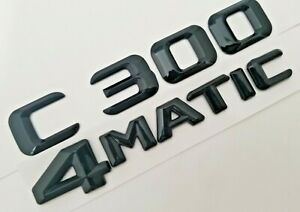 1 1 Black C300 4matic Fit Mercedes Rear Trunk Emblem Decal Badge Nameplate Word