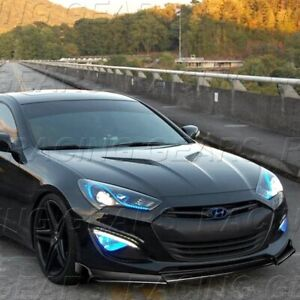 Fit 2013 2016 Hyundai Genesis Coupe Ks style Painted Black Front Bumper Lip Kit
