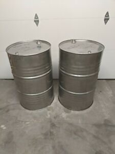 55 Gallon Stainless Steel Drum Barrel Closed Top Used