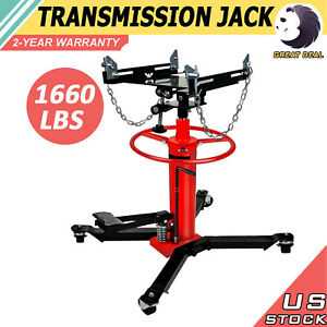 1660lbs Transmission Jack 2 Stage Hydraulic W 360 For Car Lift 0 75 Ton New S
