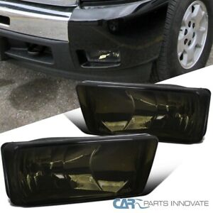 For 07 14 Chevy Silverado Avalanche Tahoe Smoke Fog Lights Driving Bumper Lamps