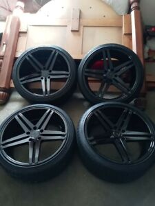 20 Rims 5x120 Staggered Verde Only Used On Car Once