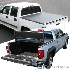 For 07 19 Silverado Sierra 1500 Crew Cab Pickup 5 8ft Bed Tri fold Tonneau Cover