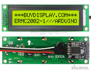 Yellow Iic i2c Serial Character 20x2 Lcd Display Module For Arduino W library