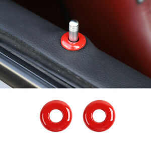 2pcs Red Car Door Lock Pins Cover Trim Accessories For Jeep Grand Cherokee 14 M