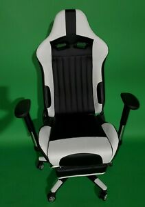Remaxe Gaming Chair With Footrest Computer Gaming Chair With High back